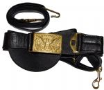 Union Officers Leather Sword Belt With Square Buckle
